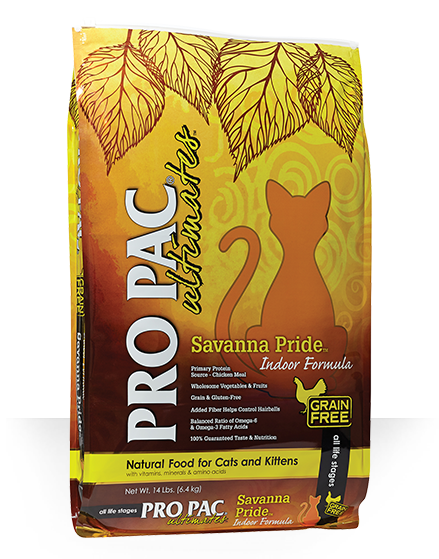 Pro Pac Ultimates Savanna Pride Chicken Indoor Grain-Free Dry Cat Food