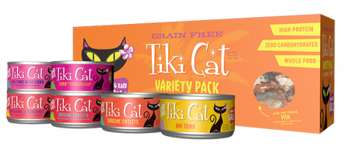 Tiki Cat King Kamehameha Luau Variety Pack Grain-Free Canned Cat Food- case of 12, 2.8oz  can