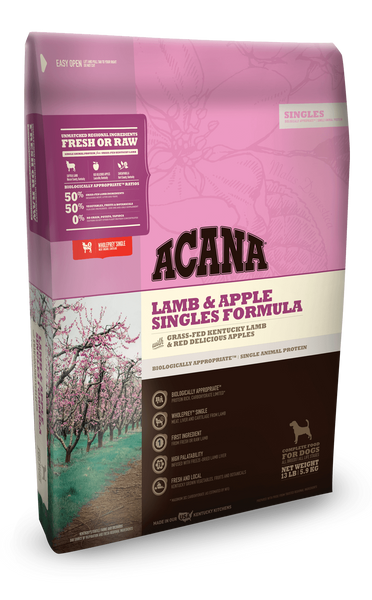ACANA Lamb & Apple Singles Formula Grain-Free Dry Dog Food