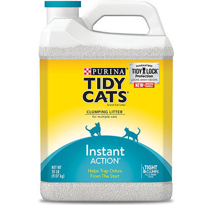 Tidy Cats Scoop Instant Action Immediate Odor Control Cat Litter- 20lb