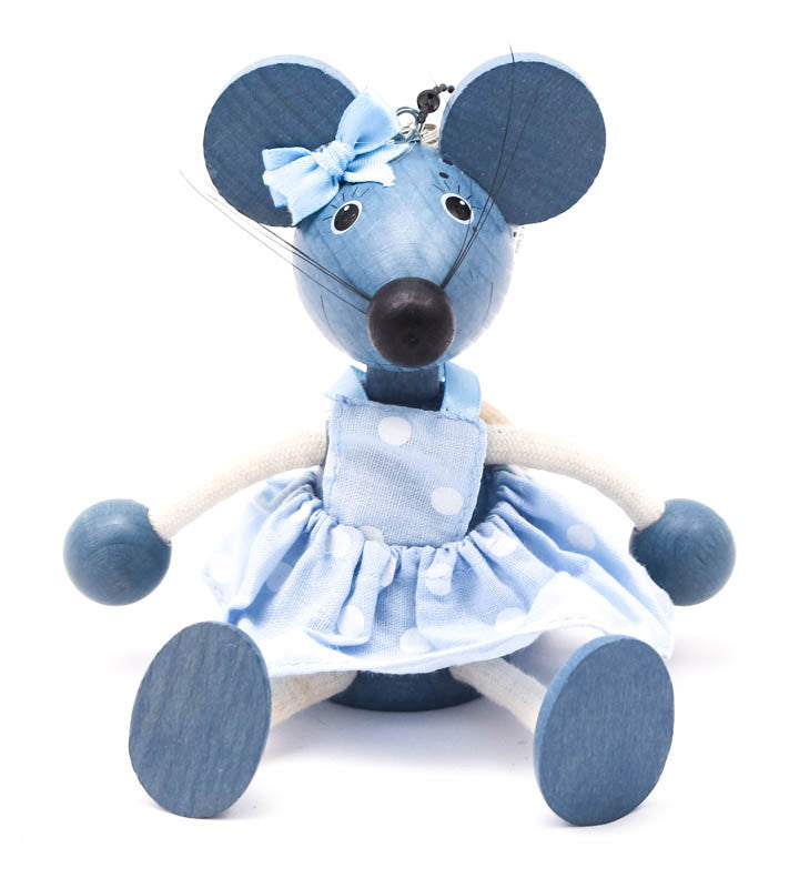 Mouse Girl Handcrafted Wooden Jumpie