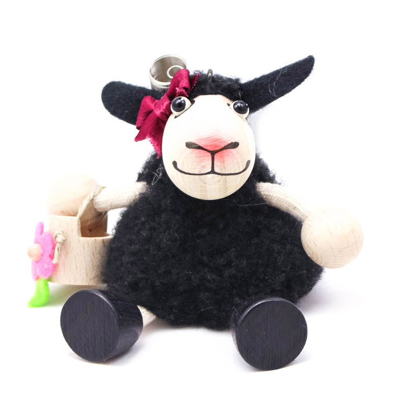 Lambgirl Black Handcrafted Wooden Jumpie