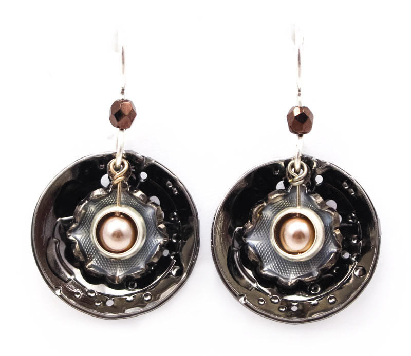 Moon Flower Earrings by Wanna Buy A Watch?