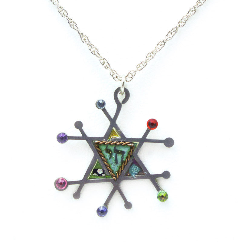 Full of Life Star and Chai Necklace