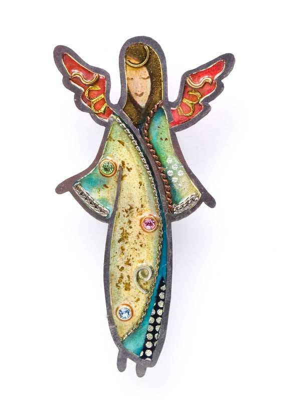 Angel with Open Arms Pin
