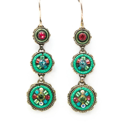 Erinite La Dolce Vita 3-Tier Earrings by Firefly Jewelry