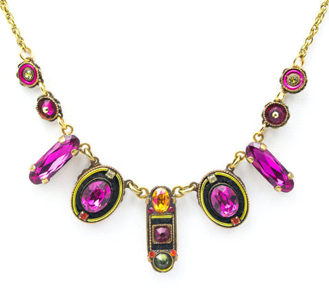 Ruby La Dolce Vita Oval Necklace by Firefly Jewelry
