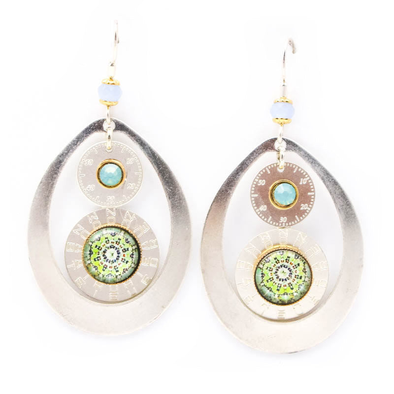 Green Overtime Earrings by Wanna Buy a Watch