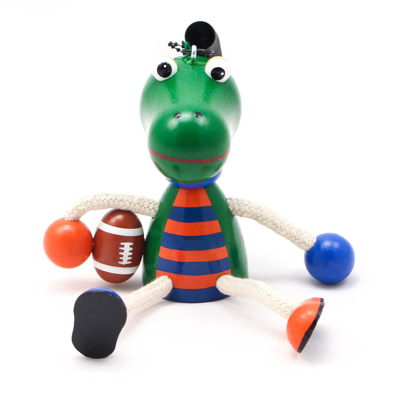 Gator Football Player Handcrafted Wooden Jumpie