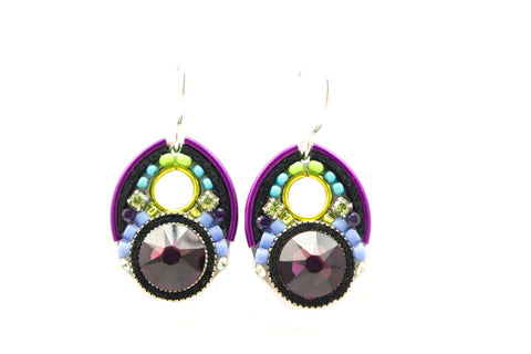 Amethyst Large Crystal Earrings by Firefly Jewelry