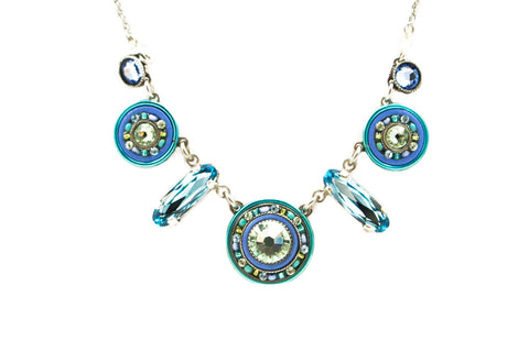 Aqua La Dolce Vita Mix Necklace by Firefly Jewelry