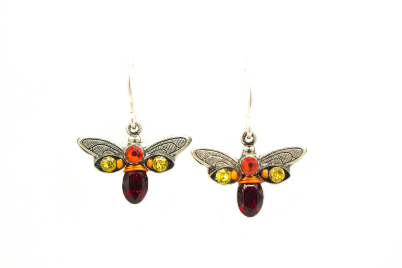 Red Crystal Firefly Earrings by Firefly Jewelry