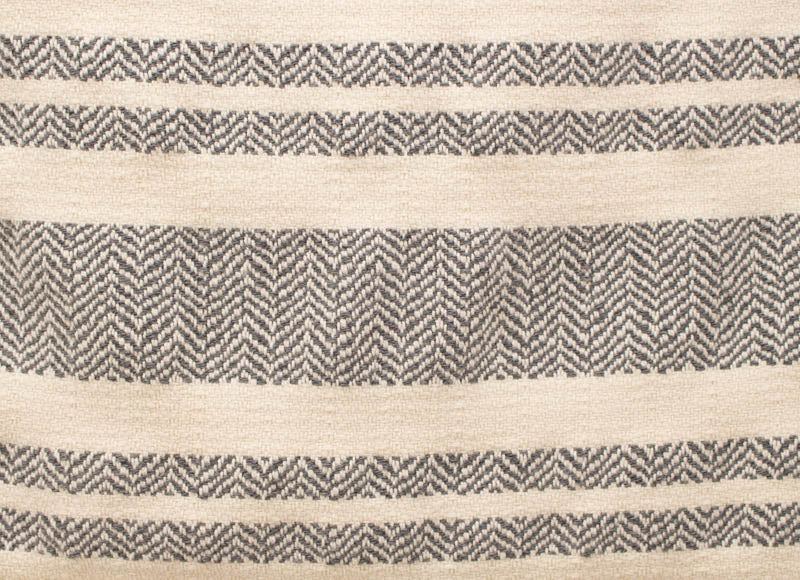 Mod Chevron Table Runner in Gray/White