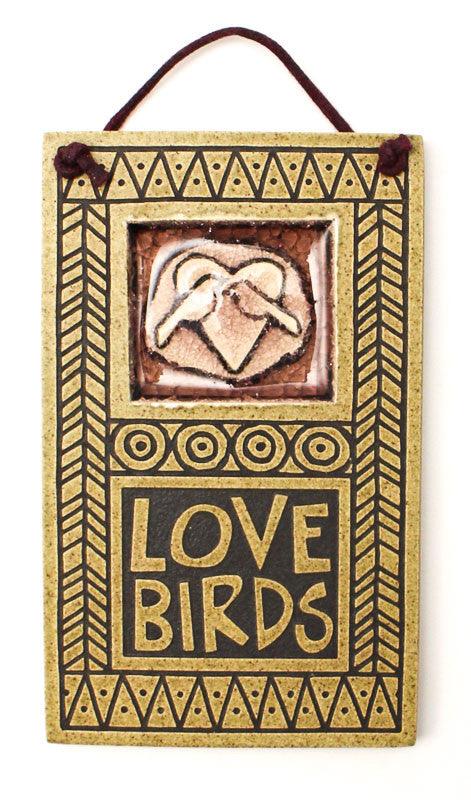 Love Birds Glass and Ceramic Tile