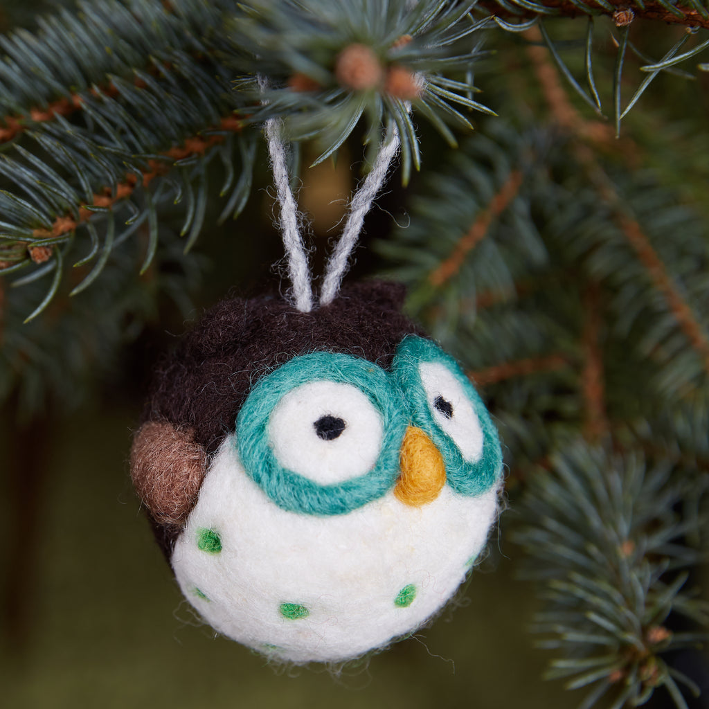 Blue Owl Woolie Ornament