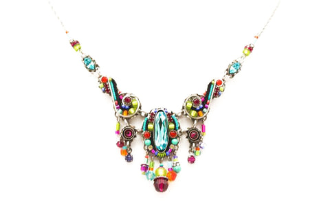 Multi Color Lavish Large Necklace by Firefly Jewelry