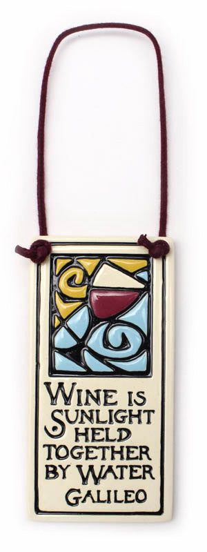 Wine Is Sunlight Wine Tag Ceramic Tile