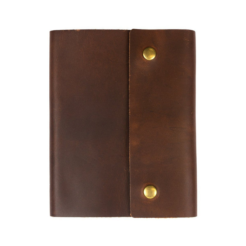 Leather Writers Log with Snap Large Notebook - Available in Multiple Colors