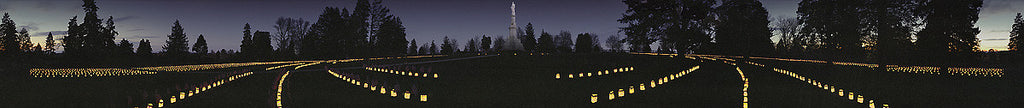 Gettysburg: The First Luminaria Panoramic Photo by James O. Phelps