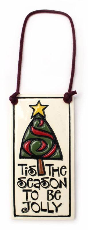 Tis The Season Wine Tag Ceramic Tile