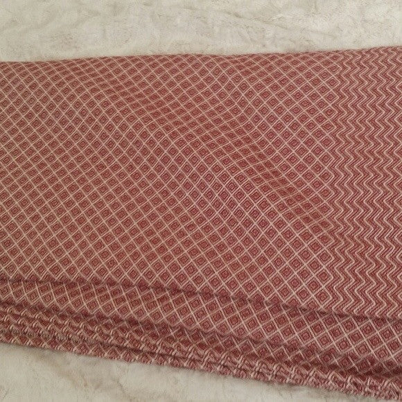 Diamonds and Chevron Queen Coverlet in Cherry