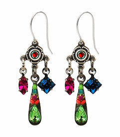 Multi Color Mini Chandelier Earrings by Firefly Jewelry