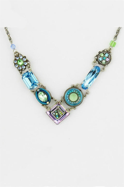 Light Blue La Dolce Vita V Necklace by Firefly Jewelry