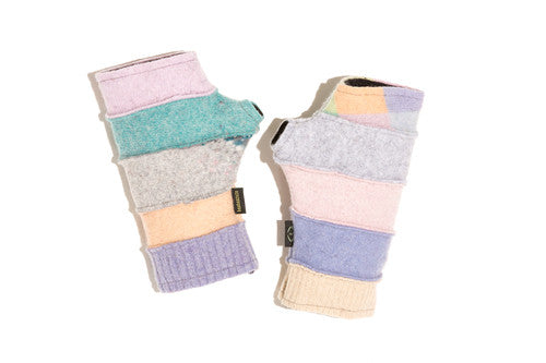 Wool Fingerless Gloves in Pastel