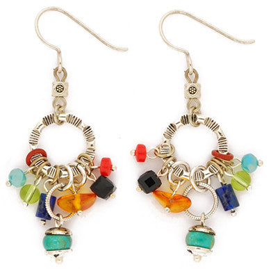 Dance of the Sun Multi Color Cluster Earrings by Desert Heart