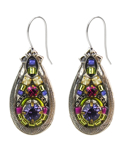 Tanzanite Mosaic Earrings by Firefly Jewelry