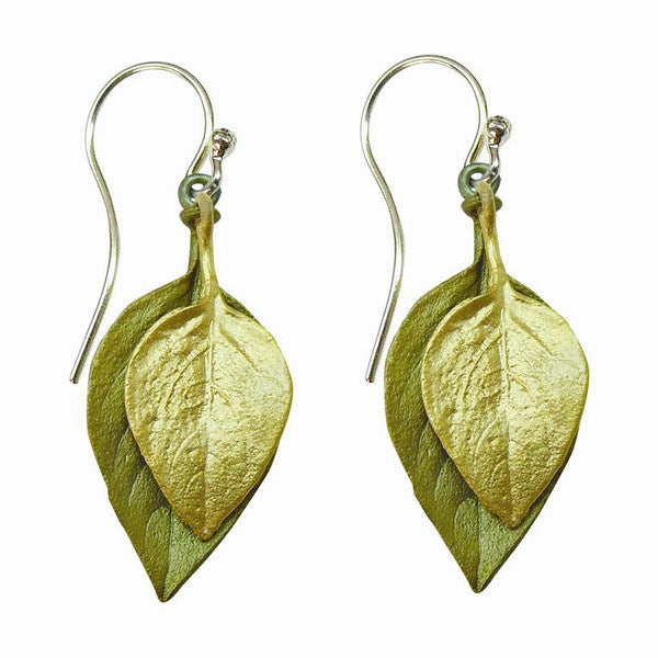 Basil Two Tone Wire Earrings by Michael Michaud