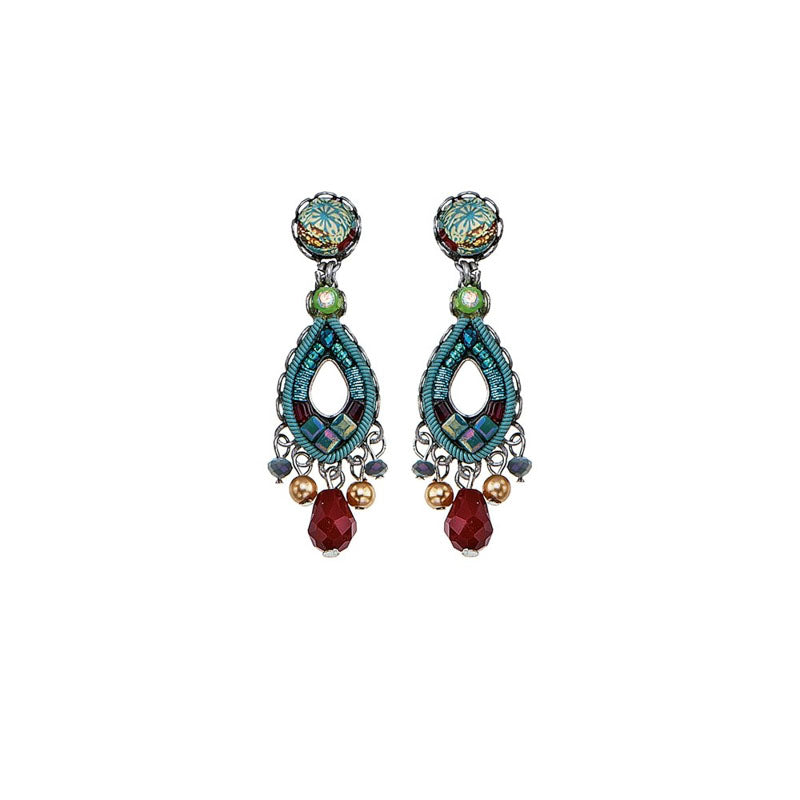Turquoise Crown Jani Earrings by Ayala Bar