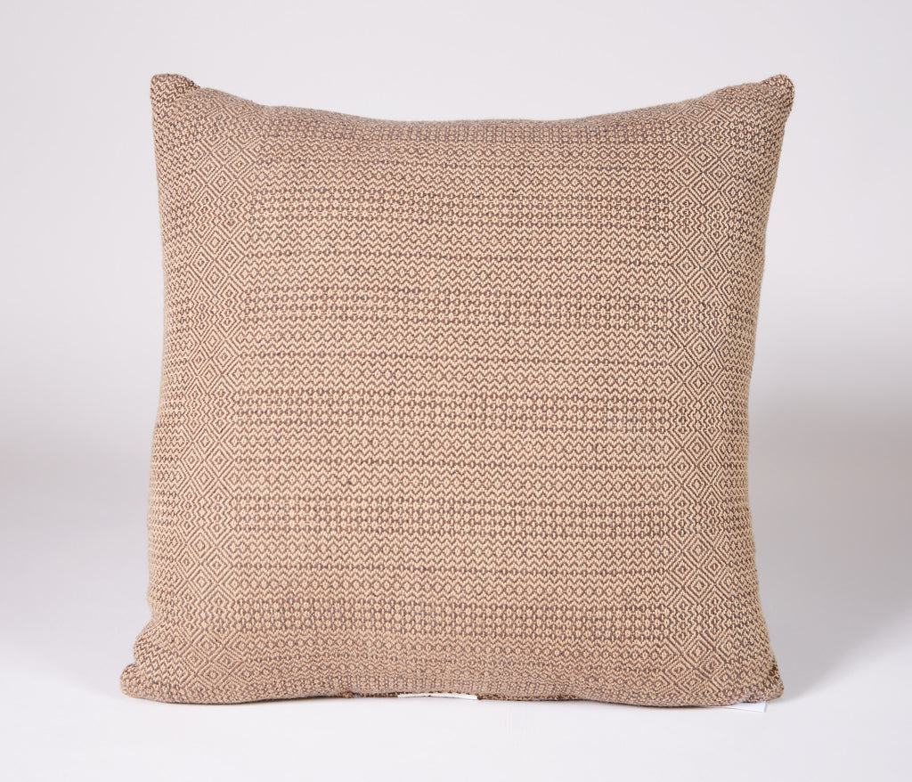 Diamond Zig Zag Pillow in Brown and Tan