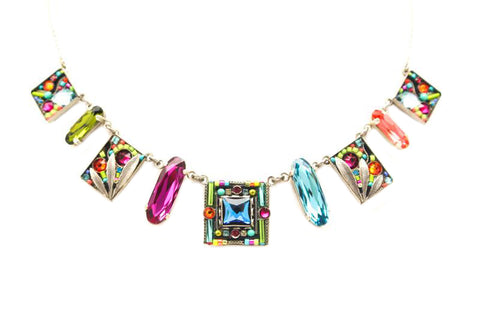 Multi Color Luxe 9 Piece Necklace by Firefly Jewelry