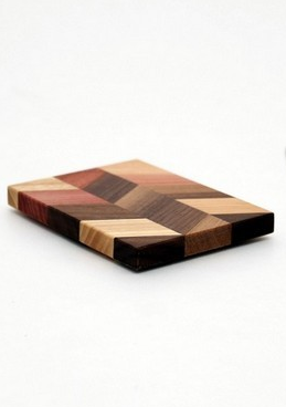 "Small Checkered Trivet in Walnut - Size 3""x4"""