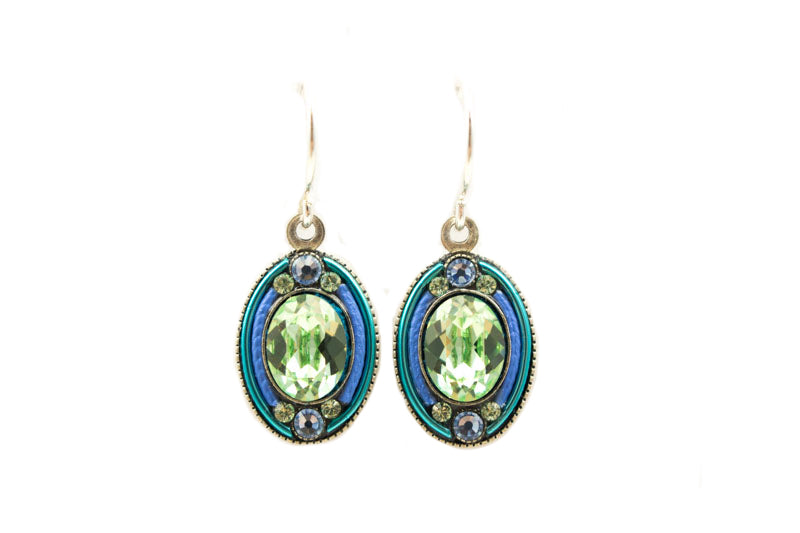 Aqua La Dolce Vita Oval Earrings by Firefly Jewelry