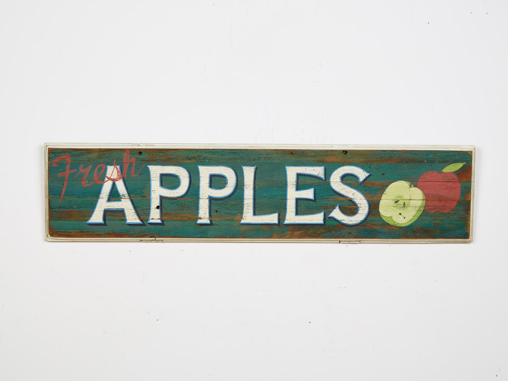 Fresh Apples Sign (green) Americana Art