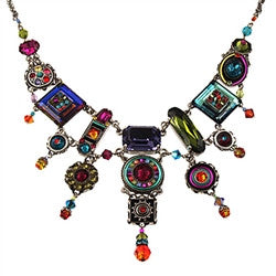 Multi Color La Dolce Vita Elaborate Necklace by Firefly Jewelry