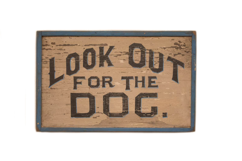Look Out For The Dog Americana Art