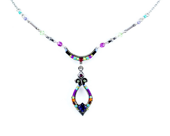 Multi Color Angels Harp Necklace by Firefly Jewelry