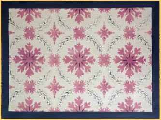 Humphries House Floorcloth with Border in Sage Green - Size 32'' x 52''