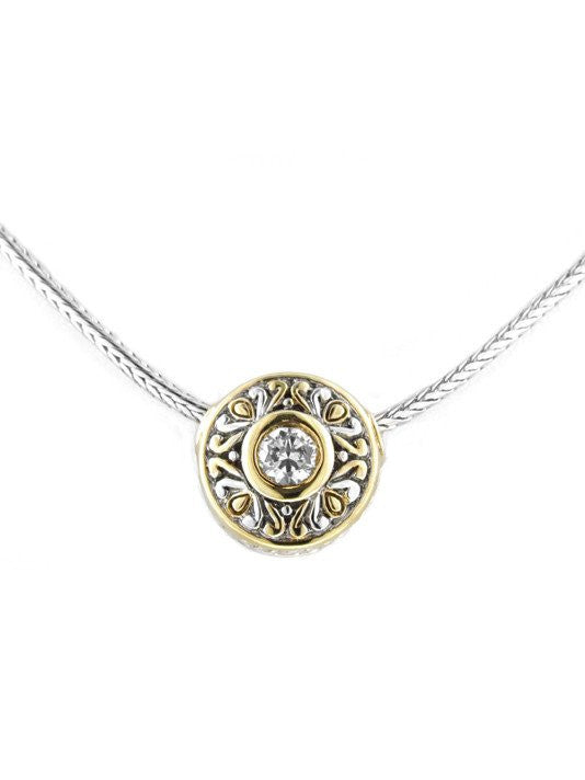 Antiqua Sliding Circle Pendant on Chain by John Medeiros