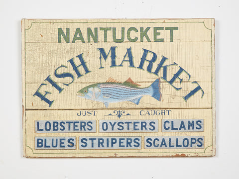 Nantucket Fish Market Americana Art