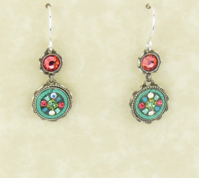 Erinite La Dolce Vita 2-Tier Earrings by Firefly Jewelry