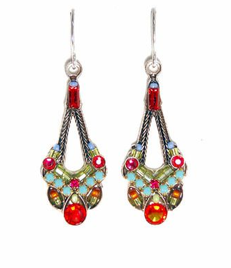 Multi Color Parisian Earrings by Firefly Jewelry