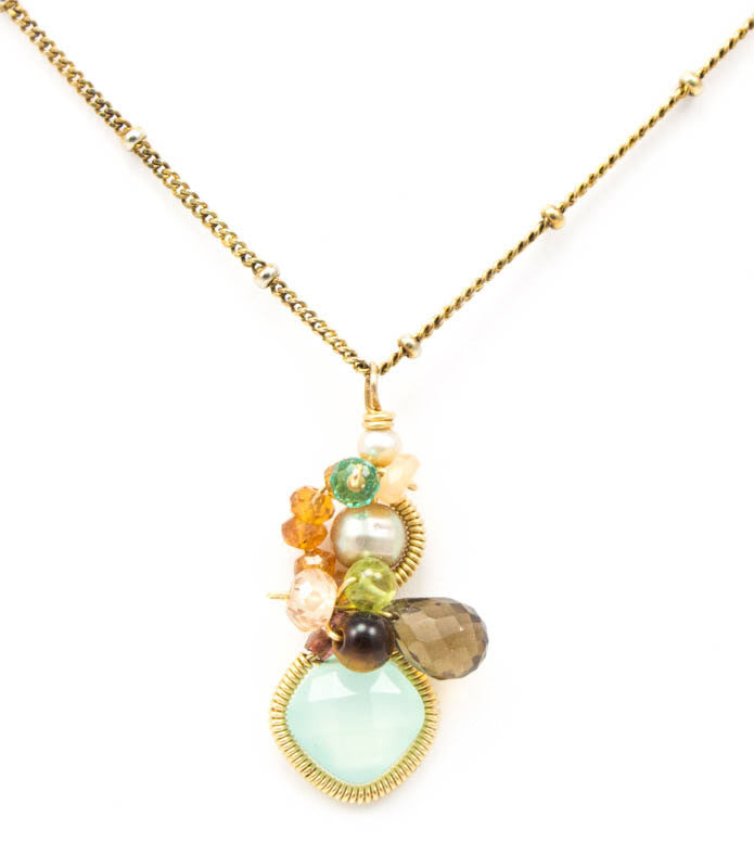 Baby Bella Chalcedony Necklace by Anna Balkan