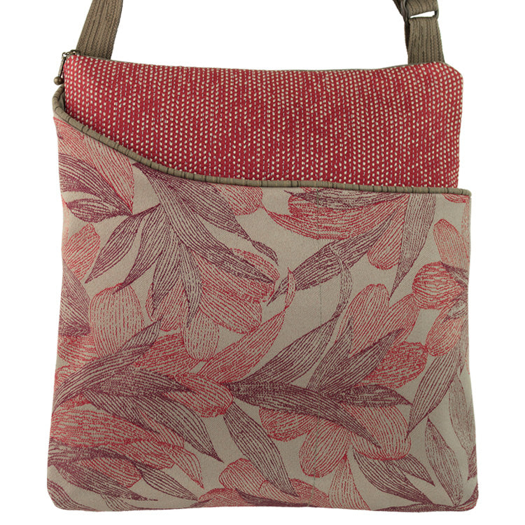 Maruca Cafe Sling Handbag in Kelp Red