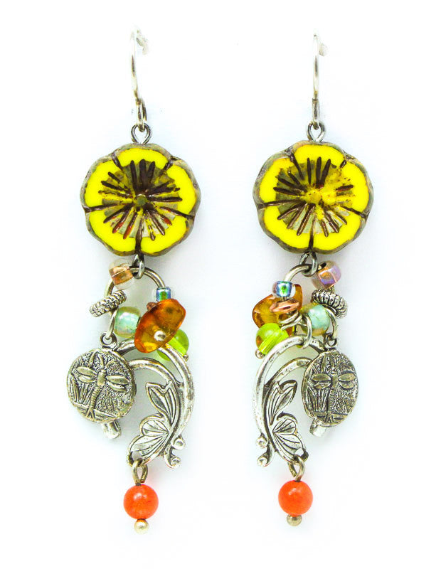Dancing Marigold Earrings by Desert Heart