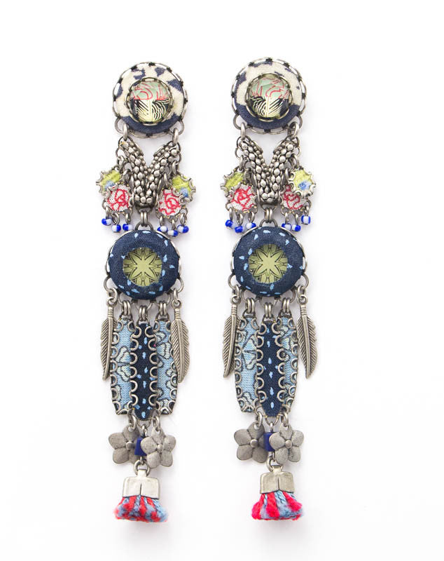 Forest Hills, Large Hip Collection Earrings by Ayala Bar