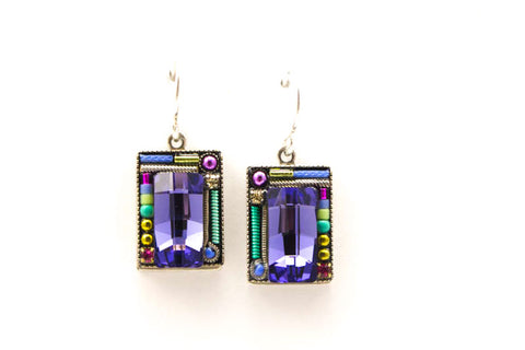 Tanzanite Linear Earrings by Firefly Jewelry
